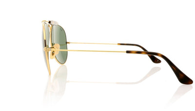 Ray-Ban Shooter 0RB3138 181 Gold Sunglasses at OCO