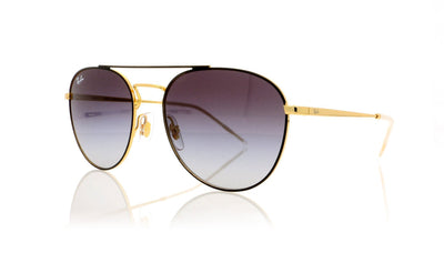 Ray-Ban 0RB3589 90548G Gold top on black Sunglasses at OCO