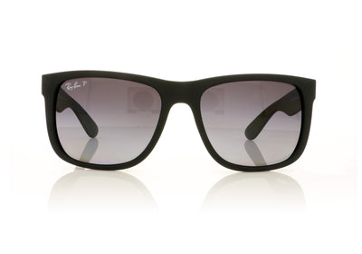 Ray-Ban Justin RB4165 622/T3 Black Rubber Sunglasses