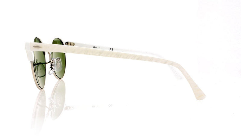 35e70ca0738 Ray-Ban Clubround RB4246 988 2X White Sunglasses