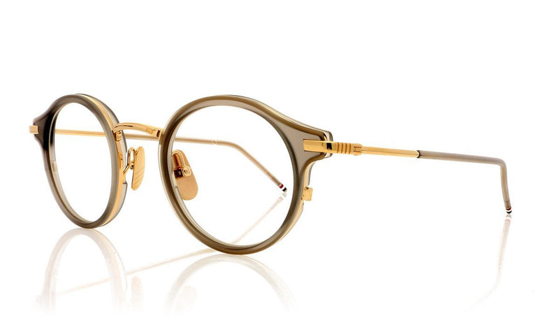c0e4932a4838 Thom Browne TB-807 Glasses. Satin Crystal Grey 12K Gold