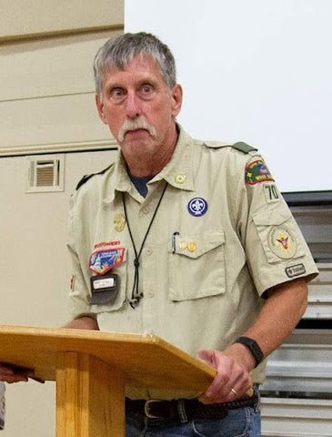 Scoutmaster Monty Humble