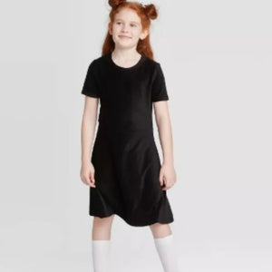 Girls' Stretch Cord Dress Art Class Black