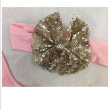 Birthday Babe Top Sequin shorts Headband Pink Gold