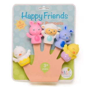 Magic Years Happy Friends Finger Puppet Set - 5pc