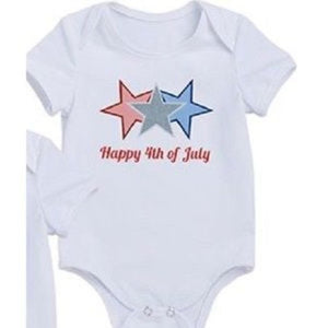 2 Fourth of July Bodysuits Twins