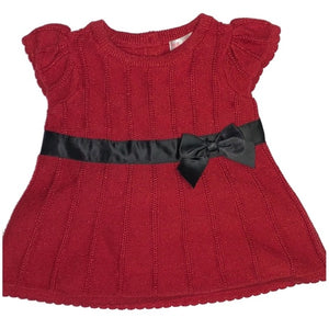 Cherokee Girls Red Holiday Sparkle Dress + Panty