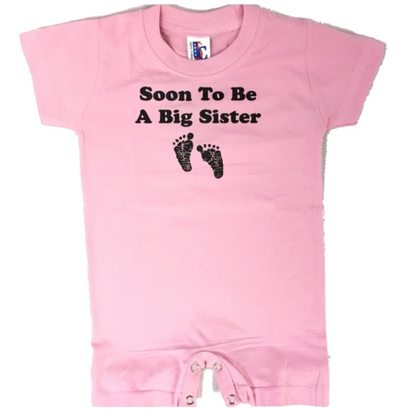 Soon to be a Big Sister Pink Bodysuit Baby