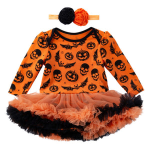 Halloween Long Sleeved Dress + Headband