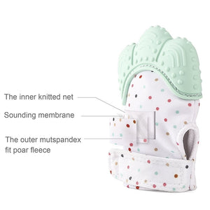 Baby Teething Mitten for Baby Self-Soothing + Pain Relief and Teething Glove | BPA FREE