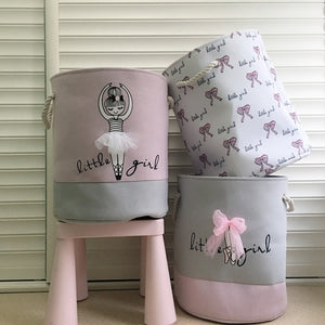 Foldable Laundry Basket Pink Ballerina | Storage baskets | Organizer