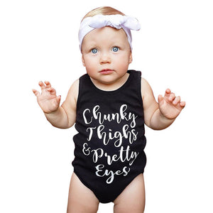Chucks Thighs and Pretty Eyes Baby Bodysuit