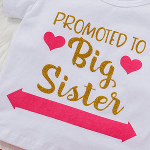 Promoted to Big Sister outfit | Baby Announcement