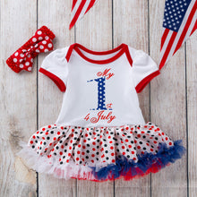 My 1st 4th Of July 2PC Dress With Matching Headband