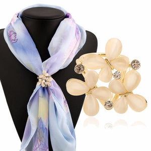 Tricyclic Butterfly Scarf Buckle Brooch Holder Scarf Jewelry