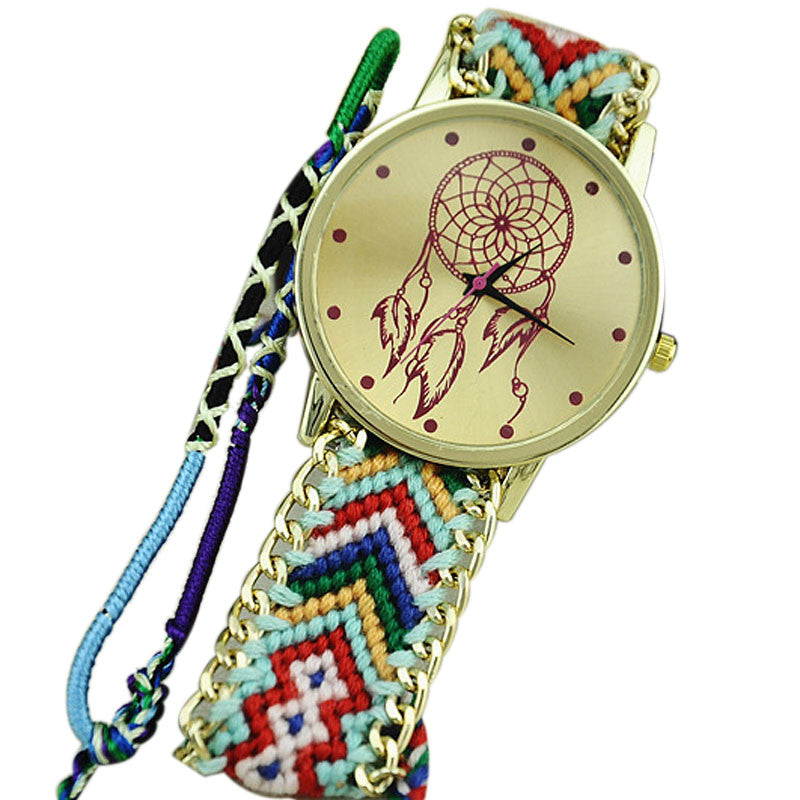 Dreamcatcher Friendship Bracelet Watches Women Braid Dress Watches