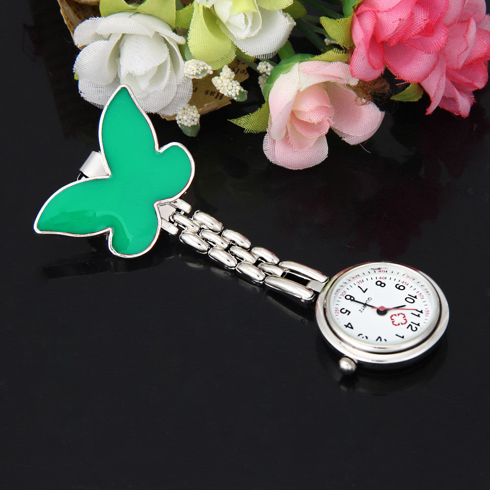 Clip-on Fob Brooch Pendant Hangingtterfly Watch Pocket Watch
