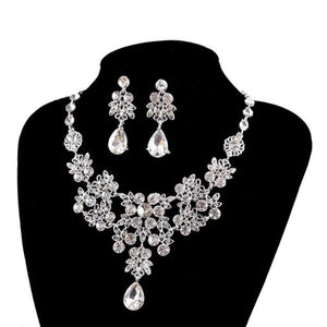 Women's Wedding Jewellery Sets Fashion Bride Earrings & Pendant Necklace
