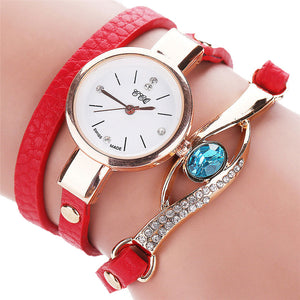 CCQ Women Fashion Casual Analog Quartz Women Rhinestone Watch Bracelet Watch