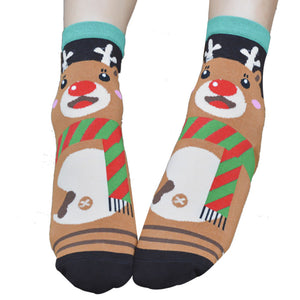 3D Animals Cartoon Socks Women Cat Footprints Cotton Socks Floor
