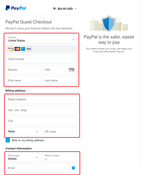 Pay with debit or credit card