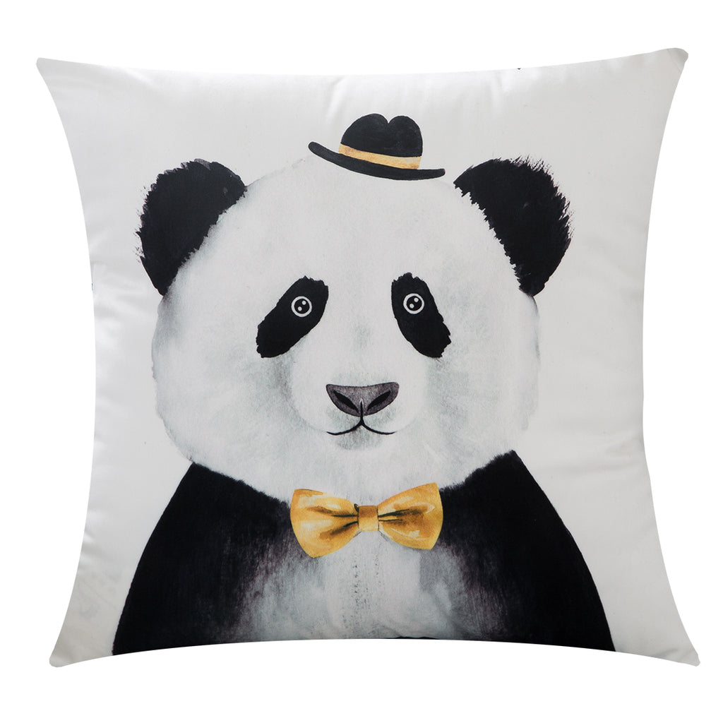 Soft Velvet Panda Throw Pillow Covers Kids Room