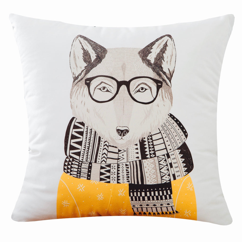 Soft Velvet Stylish Fox Throw Pillow Covers