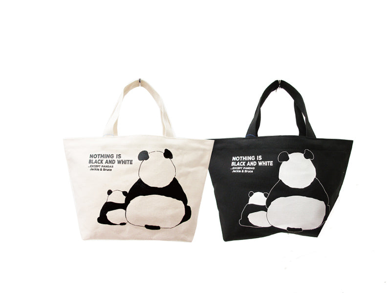 Super Cute Panda Mom and Baby Tote Bag