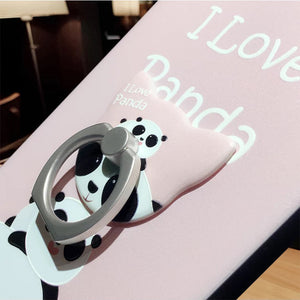 "ANTOL Super Cute ""I Love Pandas"" iPhone Case with Ring kickstand"