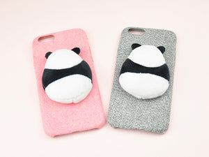70a6b52445 Handmade 3D Soft Panda Doll Wool Felt iPhone Case – Pandalagift