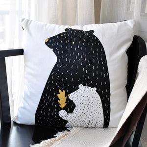 Silky Soft Velvet Polar Bear Throw Pillow Covers For Kids Girls Boys