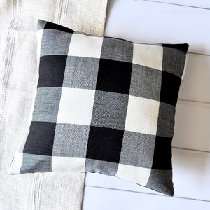 Fabulous Pandicorn Farmhouse Decorative Throw Pillow Covers Set Of 2 Black And White Plaid Textured Throw Pillows Cases Red And White Buffalo Check Ibusinesslaw Wood Chair Design Ideas Ibusinesslaworg