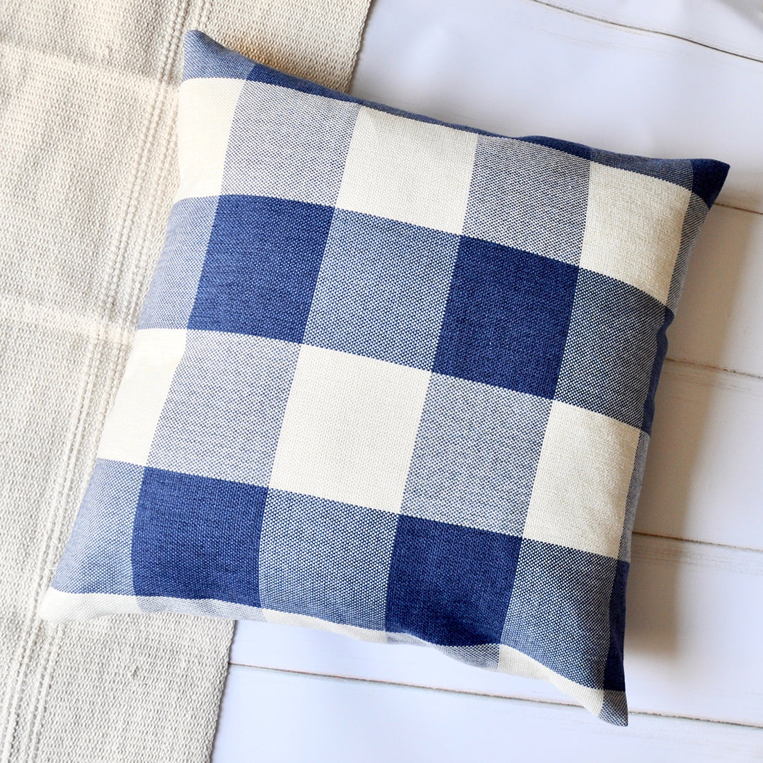 Super Pandicorn 2 Pack Farmhouse Decorative Throw Pillow Covers Blue And White Plaid Textured Throw Pillows Cases Red And White Buffalo Check Pillowcases Ibusinesslaw Wood Chair Design Ideas Ibusinesslaworg