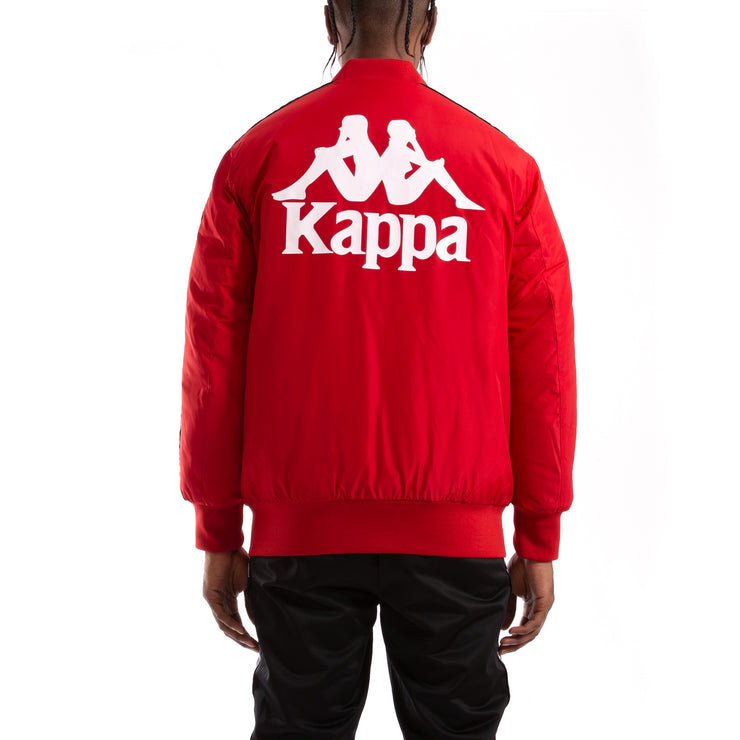 Kappa Authentic Bzalmont Red Dk Black Bomber Jacket
