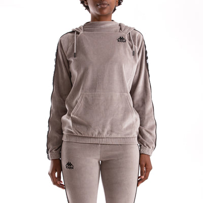 Kappa Authentic Asper Grey Mist Black Hoodie