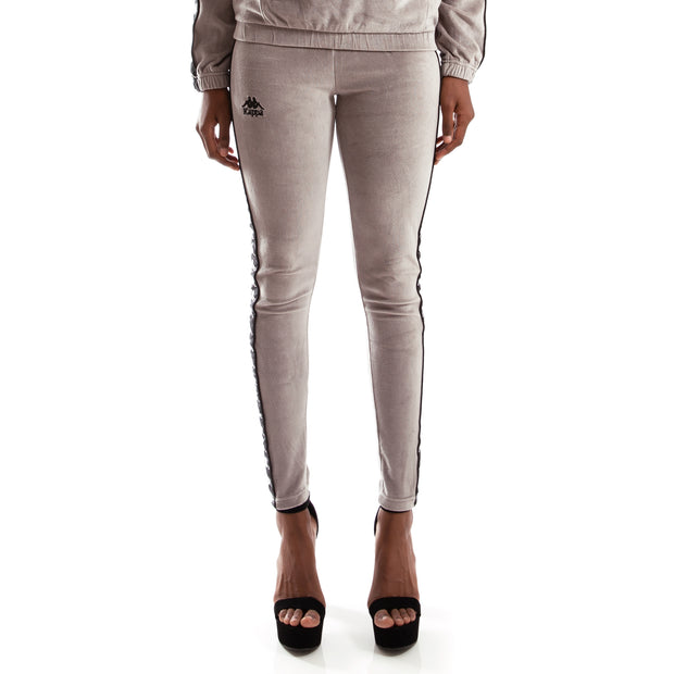 Kappa Authentic Ammu Grey Mist Black Leggings