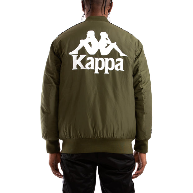 Kappa Authentic Bzalmont Green Africa Black Bomber Jacket