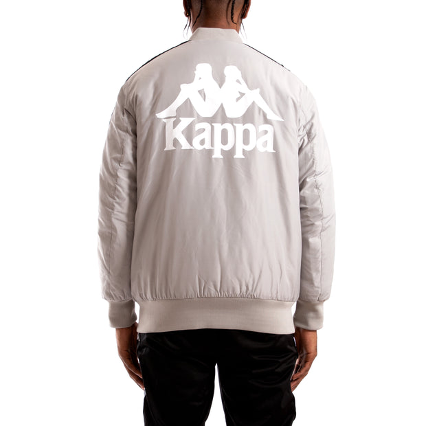 Kappa Authentic Bzalmont Grey SIlver Black Bomber Jacket