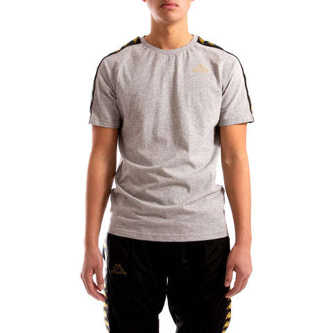 Kappa 222 Banda Coen Slim Grey Black Gold T-Shirt