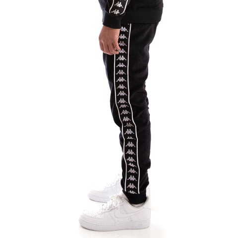 Kappa 222 Banda Ayne Black White Pants