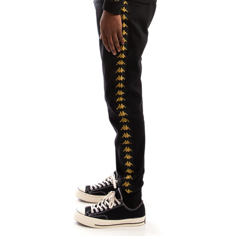 Kappa 222 Banda Agrif Slim Black Gold Pants