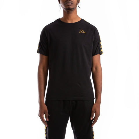 Kappa 222 Banda Coen Slim Black Gold T-Shirt