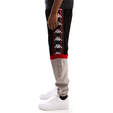 Kappa Authentic Serena Black Red Dk Grey Pants