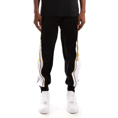 Kappa 222 Banda 10 Alen Black White Gold Pants
