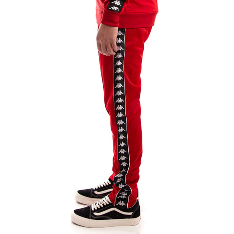 6554e5997d9 222 Banda Fairfax Red Dk Black White Pants – Kappa USA