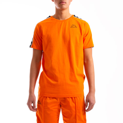 Kappa 222 Banda Coen Slim Orange Pop Black T-Shirt