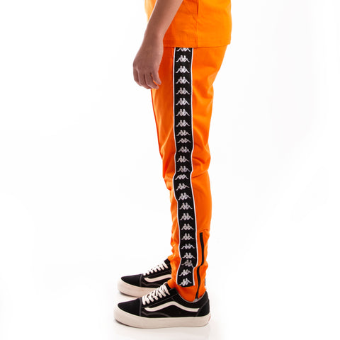 Kappa 222 Banda Rastoria Slim Orange Pop Black Pants