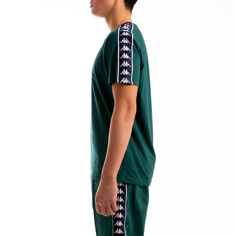 Kappa 222 Banda Coen Slim Green Blue T-Shirt