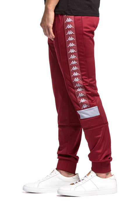 Kappa 222 Banda Mems Slim Red Bordeaux Grey Pants