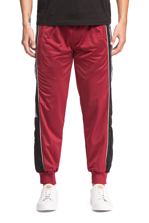 222 Banda 10 Alen Red Bordeaux Black Pants - Front